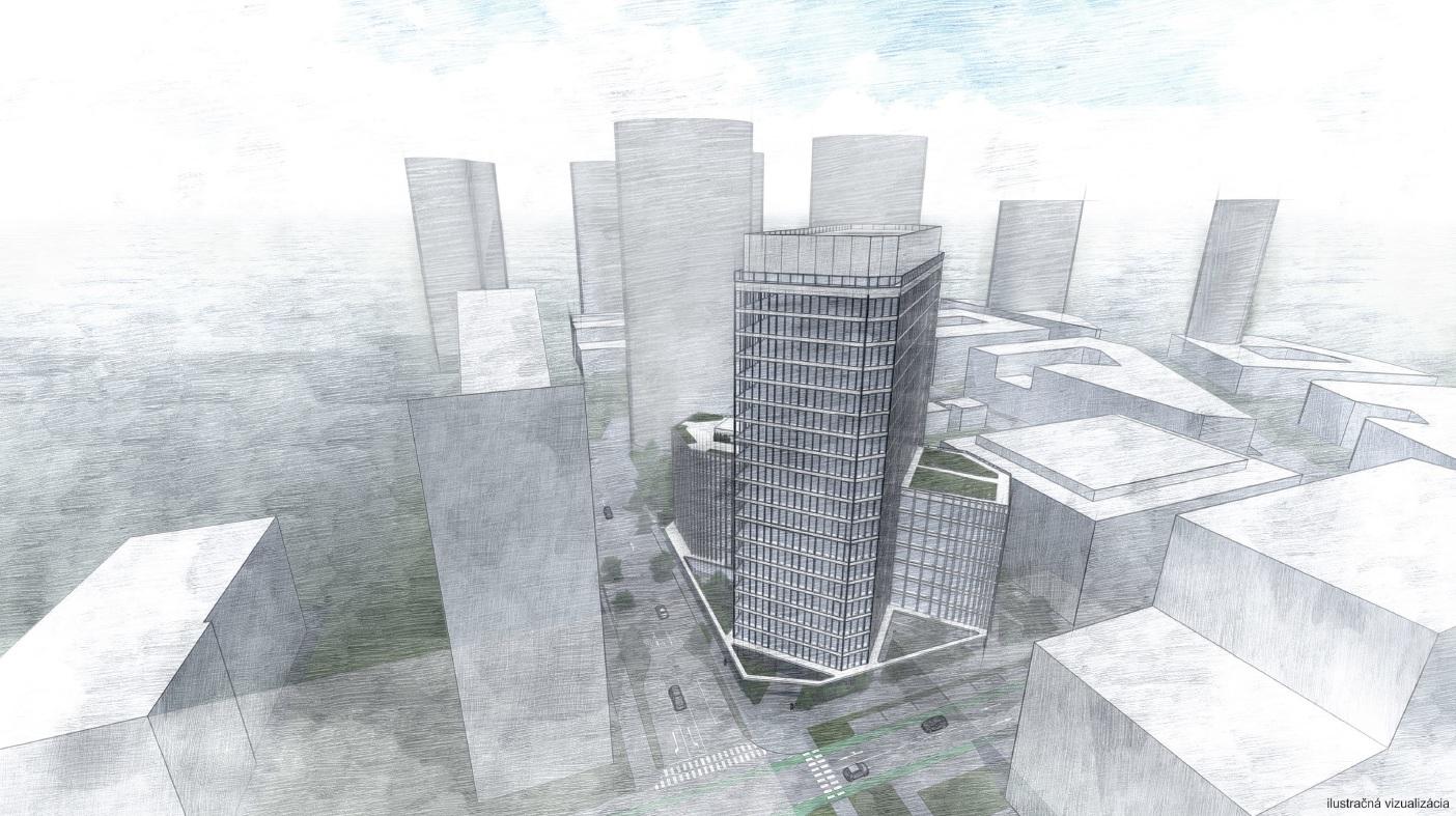 B7 Tower žiada o územné rozhodnutie